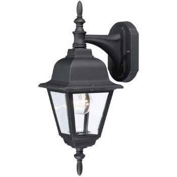 Outdoor Light Fixture, Coach Lantern - Textured Black