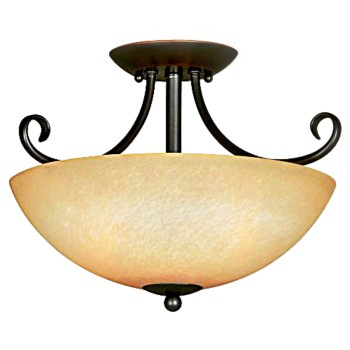 Ceiling Light Fixture, Berkshire Series  ~ Classic Bronze Finish