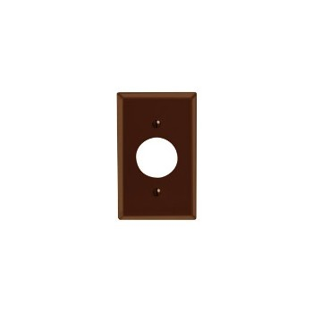 Leviton 001-85004 Sgl Outlet Plate Brn