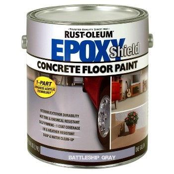 Rust-Oleum 225380 Concrete Floor Paint, Battleship Gray Satin ~ Gallon