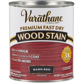 Varathane Premium Fast Dry Interior Wood Stain Barn Red Quart