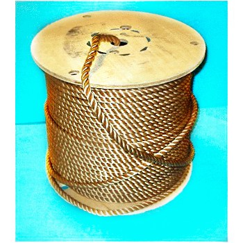 "Twisted Brown Rope, Polypropylene ~ 1/2""x 225 ft."