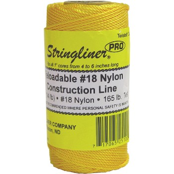 Stringliner 35100 Twisted Construction Line Roll, Gold ~ #18 270 ft.