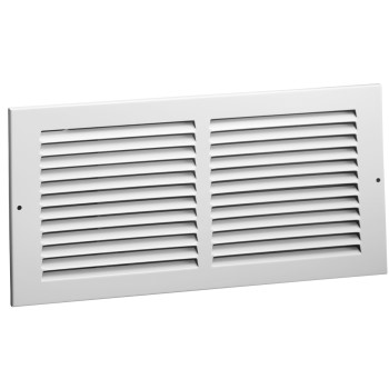 "American Metal  372W24X8 Side Wall Return Air Grille, White ~ 8"" x 24"""