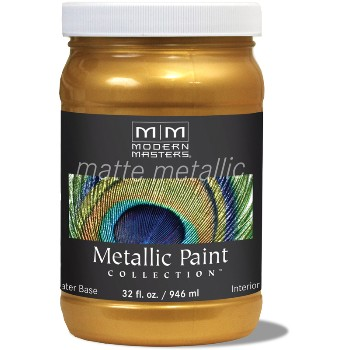 Matte Metallic Paint ~ Olympic Gold, Quart