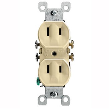 Flush Duplex Outlet ~ 2 Wire