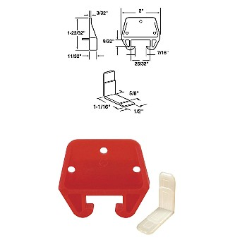 "Drawer Track Guide Kit, 25/32"", Plastic"