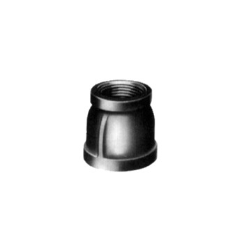 Reducer Coupling - Black Steel - 3/4 x 1/2 inch