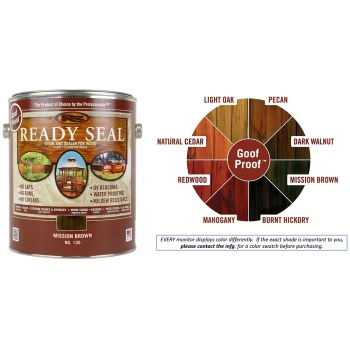 Ready Seal Wood Stain and Sealant, Mission Brown ~ Gallon
