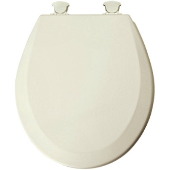 Toilet Seat - Round w/Beveled Edge - Biscuit