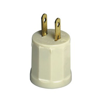 Outlet to Lampholder Adapter ~ Ivory