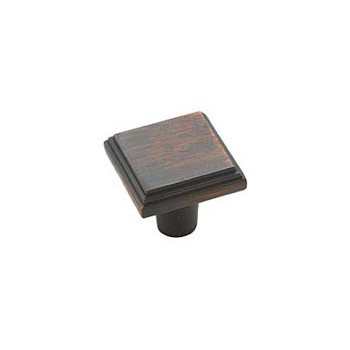 Knob - Square - Oil Rubbed Bronze Finish - 1 inch