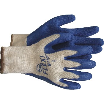 Latex Knit Gloves, 3 Pack ~ Large