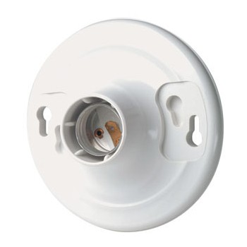 Leviton R50-8829-CW4 Ceiling Wired Keyless Lampholder