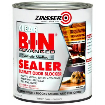 Zinsser 271409 B-I-N Synthetic Shellac Sealer, Clear  ~  Quart