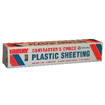 Polyethylene Plastic Sheeting,  Clear ~ 10' x 50'
