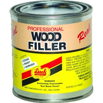 Leech Adhesive LWF-68 Real Wood Filler ~ 8 ounce Can