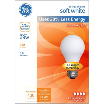 Energy Efficient Halogen Bulb - 29 watt/40 watt ~ Soft White