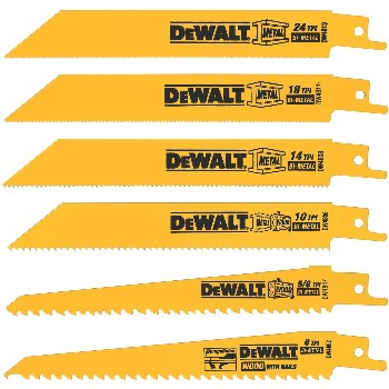 DeWalt DW4856 Reciprocating Saw Blade Set ~ 6 Piece
