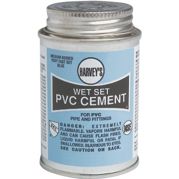 Wet Set PVC Cement, Blue  ~ 1 Pint