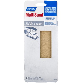 Sanding Sheets, Assorted Grits ~ 3 2/3 x 9 inches