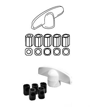 PrimeLine/SlideCo H3892 Casement Universal Tee Handles w/Adaptors