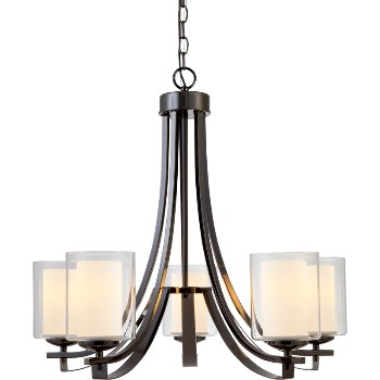 El Dorado Chandelier, 5 Light ~ Ebony Glaze