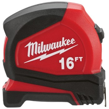 Milwaukee Brand Compact Tape Measure ~ 16  Ft