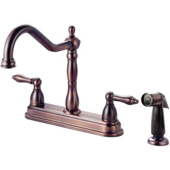 Kitchen Faucet~Two Handle w/Spray, Classic Bronze