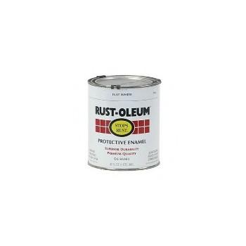 Rust-Oleum 7790502 Protective Enamel Paint, Qt Flat White
