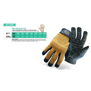 Padded Knuckle Utility Gloves ~ XL