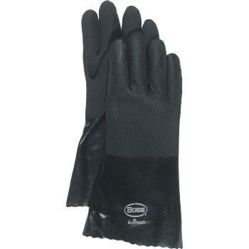 14in. Black Pvc Glove