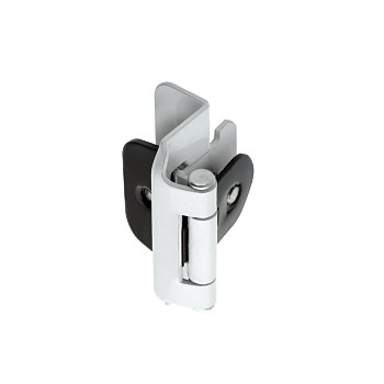 Overlay Double Demountable Hinge - White Finish - 0.5 inch