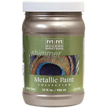 Metallic Paint, Warm Silver 32 Ounce