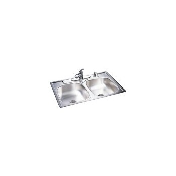 Franke  FDS604NB Sink, Double Bowl Stainless Steel 33 x 22 x 6