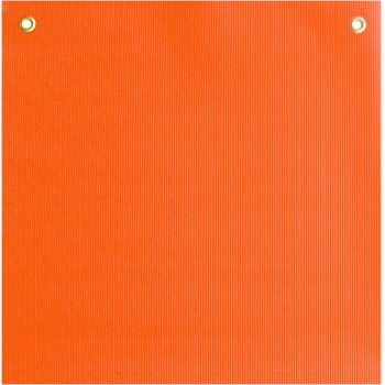 "Fluorescent Orange Safety Flag ~ 18"" x 18"""