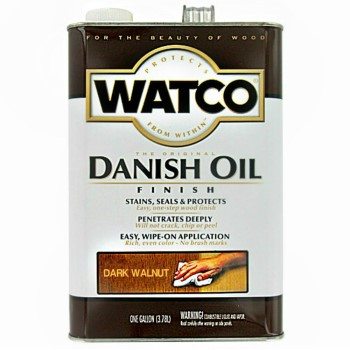 Watco 65831 Interior Danish Oil, Dark Walnut ~ Gallon