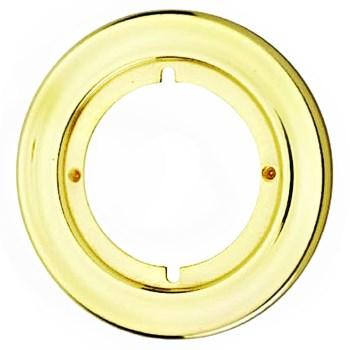 """Kwikset 92930-012 Round Trim Rosette,  Polished Brass ~ for 2 3/8"""" or 2 3/4"""" Backsets"""