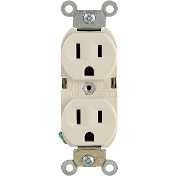 Commercial Grade Duplex Receptacle - 15 Amp ~ Light Almond