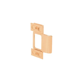 Adjustable Door Strike, Brass Plated ~ 2 Piece