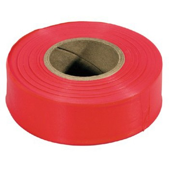 Flagging Tape,  Glo Red - 150 ft
