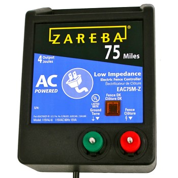 Zareba  AC Powered/Low Impedance Charger ~ 75 Mile