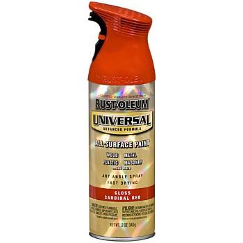 Buy The Rust Oleum 245211 Spray Paint Cardinal Red Gloss Hardware World