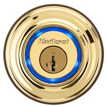 Kevo Bluetooth Electronic Lock, Polished Brass