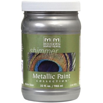 Metallic Paint, Platinum  ~ 32 oz