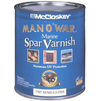 Man O' War Spar Varnish,  Semi-Gloss ~  Quart