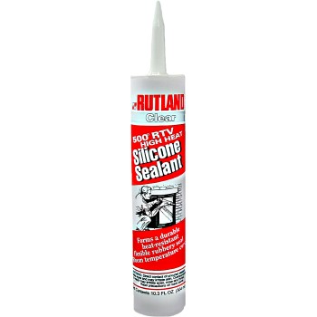 High-Heat Silicone Sealant, Clear ~ 10.3 oz Tube