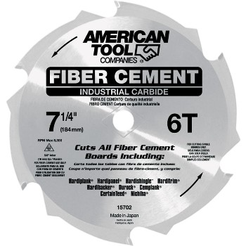 FiberCut Carbide Circular Saw Blade, 6t ~ 7 1/4""