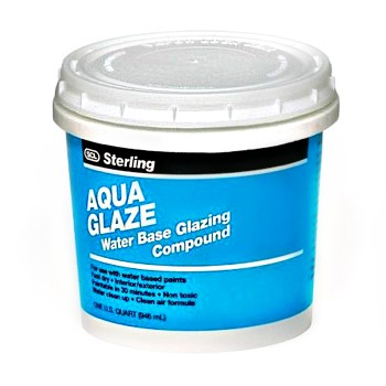 Aqua Glaze Glazing Compound ~ Quart