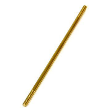 Brass Threaded Stem,  3/8-16 threads, 12""